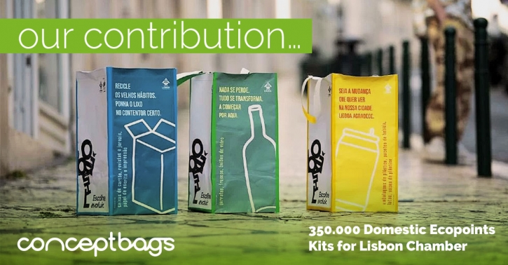 CONCEPTBAGS in the production of domestic ecopoints for the lisbon chamber