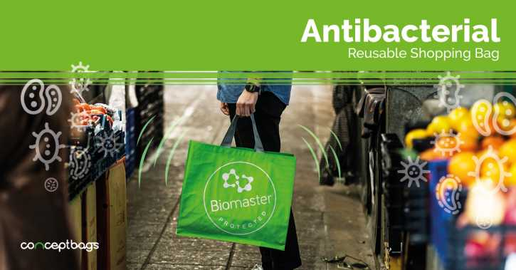 Antibacterial Reusable Shopping Bags